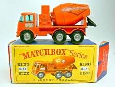 "Kingsize K-13A ERF Cement Truck ""Readymix"" orange in ""D"" Box"