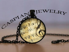 Musical Note Black Fashion Jewelry Pendant Necklace Top quality