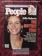PEOPLE September 17 1990 JULIA ROBERTS ADRIAN PASDAR JETT WILLIAMS IRENE DUNNE