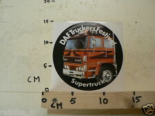 STICKER,DECAL DAF TRUCKERS FESTIVAL 2500 TURBO SUPERTRUCK