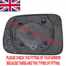 HONDA HRV 1999- 2006 DRIVER/RIGHT SIDE DOOR/WING MIRROR GLASS SILVER & BASEPLATE