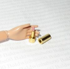 * ACCESSORY ~ MATTEL BARBIE DOLL MINIATURE POOL CHIC GOLD LIPSTICK FOR DIORAMA