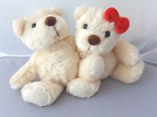 Tb Trading Co cream hugging small plush bears 8 inches tall