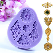 3D Vintage Jewelry Mould Cupcake Silicone Fondant Cake Chocolate Mold