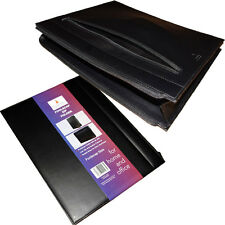 Foolscap A4 Conference Folder Zipped Folio Faux Leather Document Portfolio Case