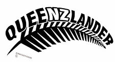 AOTEAROA NEW ZEALAND KIWI FERN QUEENSLAND QUEENZLANDER STICKER #2 WHITE