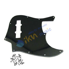 1pcs 3Ply Plain Black Jazz Bass Pickguard JB Style JB Pickguard 10Hole w/ Screws