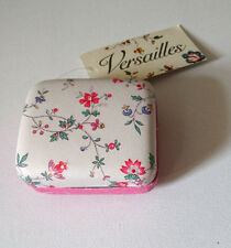 Versailles FAUX LEATHER TRINKET BOX Soul Pink MINI JEWELLERY CASE VERG19 Gift
