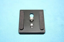 replacement plate for sachtler tripod head 18p 20p 18 ii 18 sb -with two screws