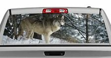 Truck Rear Window Decal Graphic [Wolves / Winter Wolf] 20x65in DC53304