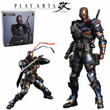 "10"" DC Comics Play Arts Kai Deathstroke Arkham Action Figure Statue Model Toy"