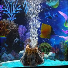 Aquarium Volcano Shape & Air Bubble Stone Oxygen Pump Fish Tank Ornament