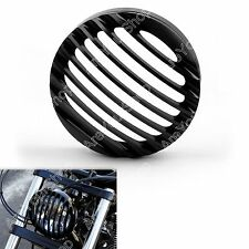 "5 3/4"" Aluminum Phare Grill Cover Pour Harley Sportster XL 883 1200 04-14 BLK"