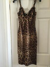 D&G Leopard Slip Dress Small