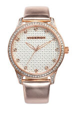 Viceroy 40700-97 Women's Crystal Encrusted Dial Rose Gold Tone Case Watch