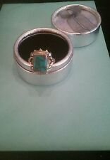 Sterling Silver Copper Blue Arizona Turquoise Ring Marked 925 Size 9