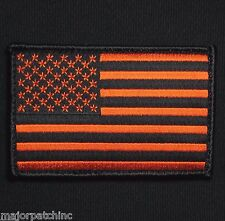 USA UNITED STATES AMERICAN FLAG TACTICAL UNIFORM BLACK OPS ORANGE VELCRO PATCH