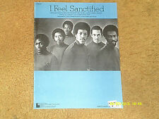 Commodores sheet music I Feel Sanctified 1974 4 pages (NM shape)