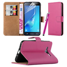 Wallet Flip Leather Book Case Cover Pouch For Samsung Galaxy  Free Screen Guard
