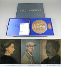 LS LOWRY SIGNED 3 x LIMITED EDITION PRINTS SELF PORTRAIT MOTHER FATHER & BRONZE