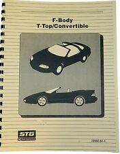 1994 1995 1996 1997 1998 Camaro Firebird T-Top/Convertible Shop Manual Supplemnt