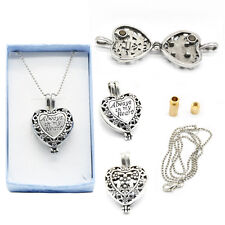 Memorial Locket Necklace Always in My Heart In Loving Memory Ash Urn Inside #MS