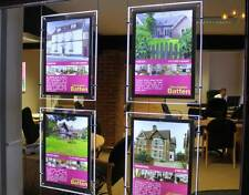 1 A4 LED 2 sided Light Pocket Panel for Estate Agency Window Display Sign Advert
