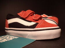 Baby 2012 Vans OLD SKOOL V 5 TD VELCRO RED WHITE BLACK VN-0D3Y5SK NEW 5.5C 5.5