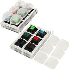 6x Acrylic Keyboard Tester Kit Clear Keycaps Sampler for Cherry MX Switches