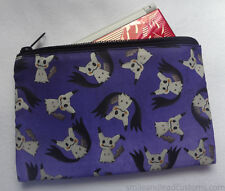 Pokemon Alola Mimikyu Handmade Zipper Pouch, 3DS Case, Makeup/Pencil Bag