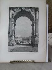 Vintage Print,ARCH OF CONSTANTINE,Rome,Francis Wey,1872