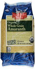 Pure Organic Whole Amaranth Grain. Low Fat, Cholesterol & Sodium Free. [16oz x1]