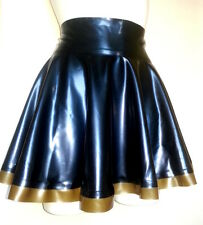 Latex Rubber Full Circle Skating Skirt TV UNISEX SEXY Gold and Black men women