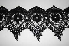 """Venise Lace in Black Rayon - 10 yds for $19.99 - 4 1/2"""" Wide"""