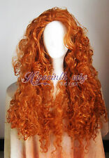 Disney Pixar Animated movie of Brave MERIDA cosplay wig+Gift