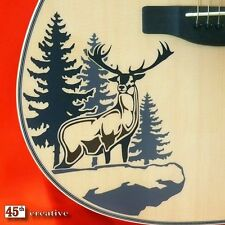 Deer Cliff Acoustic Guitar Decal - fender starcaster squire graphic sticker
