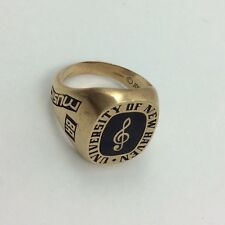 JOSTENS 10K GOLD MUSIC NOTE UNIVERSITY OF NEW HAVEN MENS RING