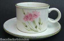 TWO Midwinter Invitation Carnation Stonehenge Tea Coffee Cups & Saucers in VGC