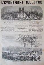 VENTE CHEVAUX ECURIES LOUVRE GRAVURES JOURNAL L EVENEMENT ILLUSTRE N° 34 de 1871