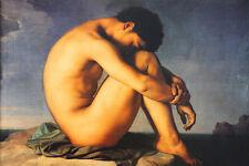 Flandrin Ragazzo al Mare Poster Kunstdruck Bild 59x88cm - Kostenloser Versand