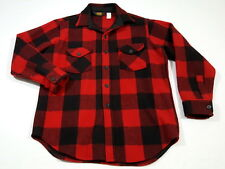 VINTAGE Woolrich Red Buffalo Plaid Mackinaw Cruiser Jacket Large EUC, No Holes!
