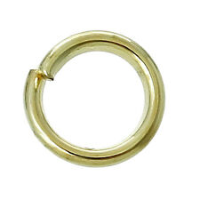 50 pcs Gold plated Open Jump Ring Connector 6mm jewelry findings connector DIY