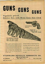 1946 PAPER AD Standard Novelty Products Toy Cowboy Guns Pistols Holsters