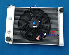 Aluminum Radiator & 14''FAN for FORD Cortina 6 cylinder TC TD TE TF 1972-1982 AT