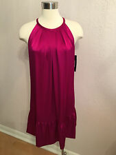 NWT $355.00 DKNY MISSES' SLEEVELESS ABOVE KNEE SATIN FORMAL COCKTAIL DRESS Sz M