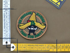 """Ricamata / Embroidered Patch Usaf PJ """"Than You Party"""" with VELCRO® brand hook"""