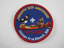 Owasippe 95th Anniversary Patch 2006 BSA Boy Scouts Camp Owasippe Chicago