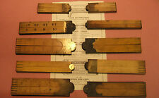 10 Old/Vintage I & D Smallwood Four Fold Boxwood Rules, All Unfinished.