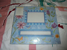 NEW Photo album blue with butterflies garden Marcella by Kay 12x12 personalize