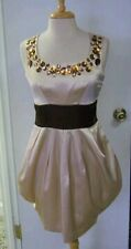 MARC JACOBS RHINESTONE NECKLINE COCKTAIL DRESS,SIZE 6 (slim fit,will fit size 4)